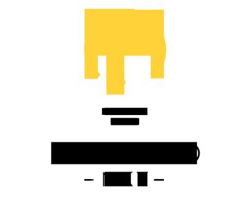 El logo pretende expresar simpleza y sofisticación. Utiliza caracteres de la tipografía para formar una bombilla