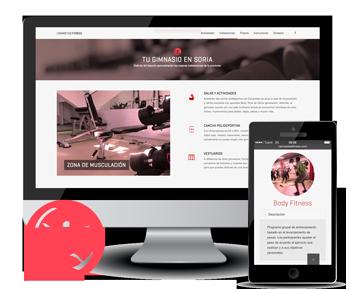 El sitio web camaretasfitness.com es un diseño multidispositivo de una página